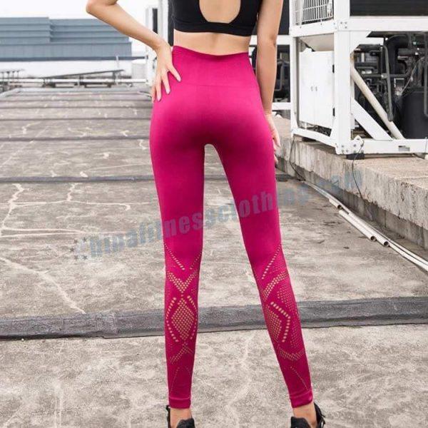 13 - High Waisted Mesh Leggings - Custom Fitness Apparel Manufacturer