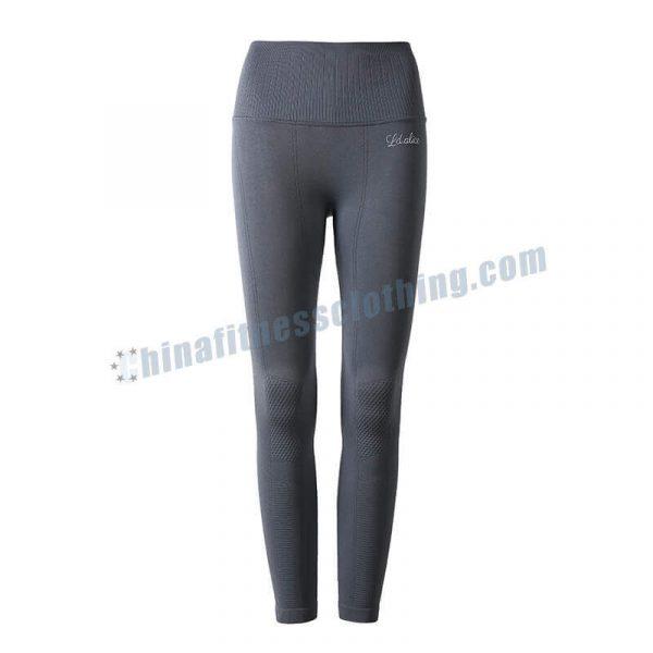 2 2 - Grey Gym Leggings Wholesale - Custom Fitness Apparel Manufacturer
