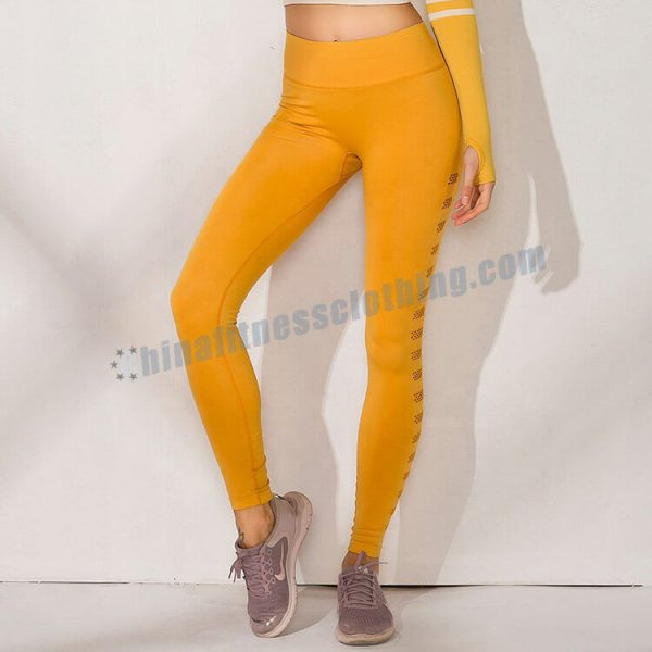 2 5 - Yellow Workout Leggings Wholesale - Custom Fitness Apparel Manufacturer