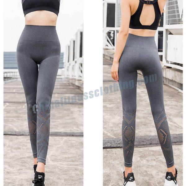 4 1 - Grey Mesh Leggings - Custom Fitness Apparel Manufacturer