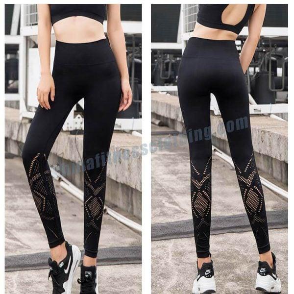 5 1 1 - High Waisted Mesh Leggings - Custom Fitness Apparel Manufacturer
