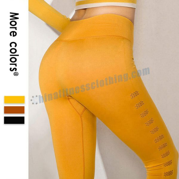 5 2 - Yellow Workout Leggings Wholesale - Custom Fitness Apparel Manufacturer