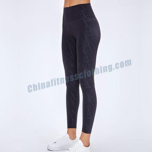 5 - Black Camo Workout Leggings - Custom Fitness Apparel Manufacturer