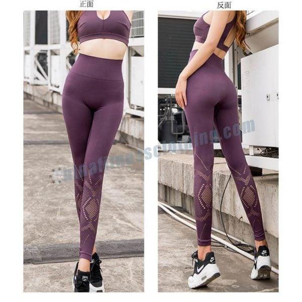 6 - High Waisted Mesh Leggings - Custom Fitness Apparel Manufacturer