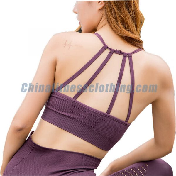 Back view of breathable sports bra wholesale - Breathable Sports Bra Wholesale - Custom Fitness Apparel Manufacturer