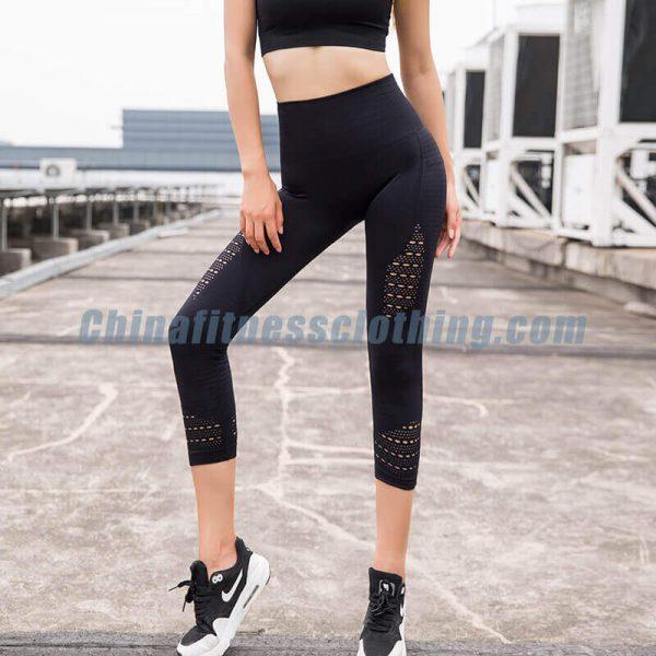 Black mesh capri leggings wholesale - Mesh Capri Leggings Wholesale - Custom Fitness Apparel Manufacturer