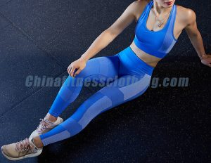 Custom blue padded push up sports bra wholesale 1 - Padded Push Up Sports Bra - Custom Fitness Apparel Manufacturer