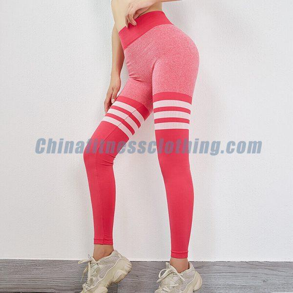 Custom pink striped leggings manufacturers - Pink Striped Leggings Wholesale - Custom Fitness Apparel Manufacturer