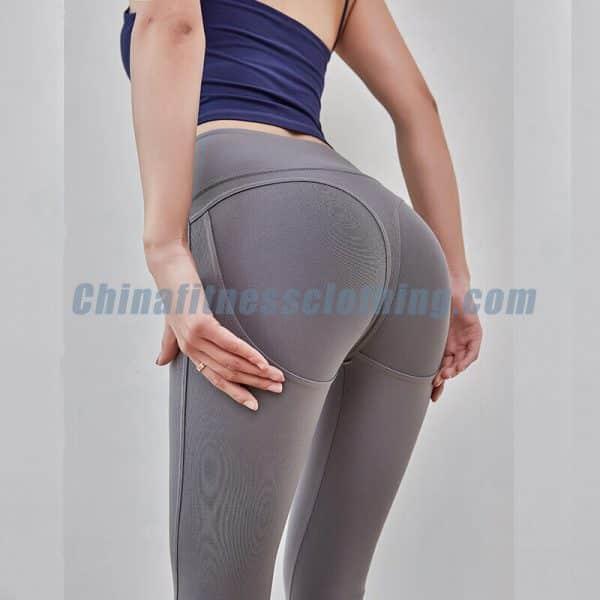 Grey affordable squat proof leggings wholesale - Affordable Squat Proof Leggings Wholesale - Custom Fitness Apparel Manufacturer