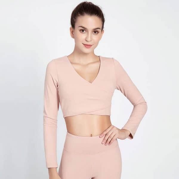 Light pink crop tops wholesale supplier - Light Pink Crop Tops Wholesale - Custom Fitness Apparel Manufacturer