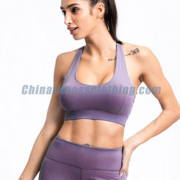 Light purple push up workout bra manufacturer - Push Up Workout Bra Wholesale - Custom Fitness Apparel Manufacturer