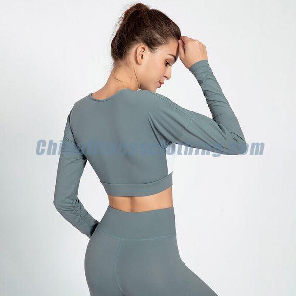 Loose long sleeve crop top wholesale - Loose Long Sleeve Crop Top - Custom Fitness Apparel Manufacturer