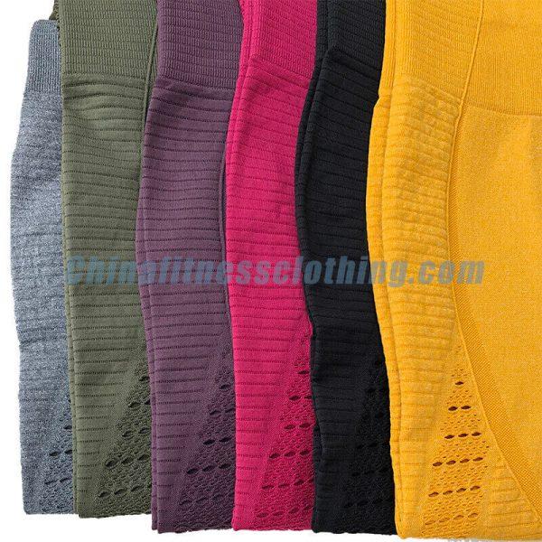 Mesh capri seamless leggigns wholesale - Mesh Capri Leggings Wholesale - Custom Fitness Apparel Manufacturer