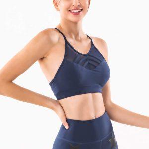 Navy-blue-thin-strap-workout-bra-wholesale-manufacturer