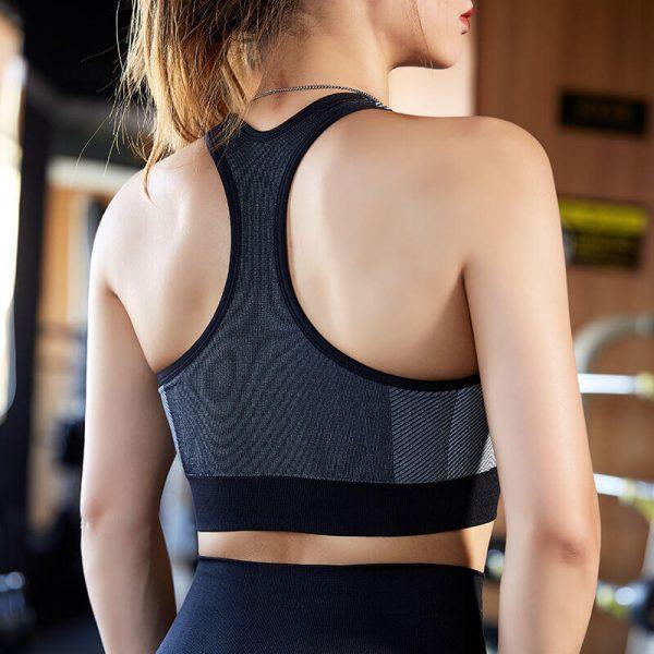 Padded push up sports bra back view - Padded Push Up Sports Bra - Custom Fitness Apparel Manufacturer