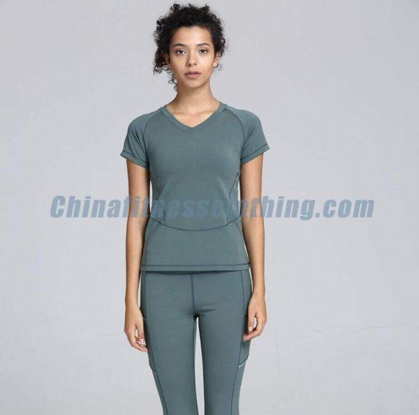 Private label womens v neck t shirts wholesale - Women's V Neck T Shirts Wholesale - Custom Fitness Apparel Manufacturer