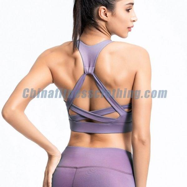 Purple push up workout bra wholesale - Push Up Workout Bra Wholesale - Custom Fitness Apparel Manufacturer