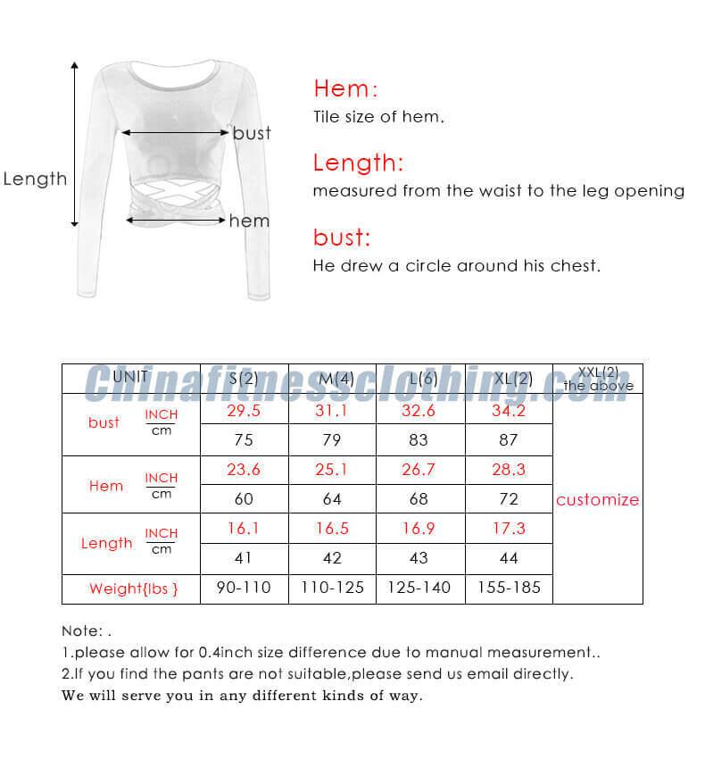 Round neck crop top size chart - Round Neck Crop Top T Shirt - Custom Fitness Apparel Manufacturer