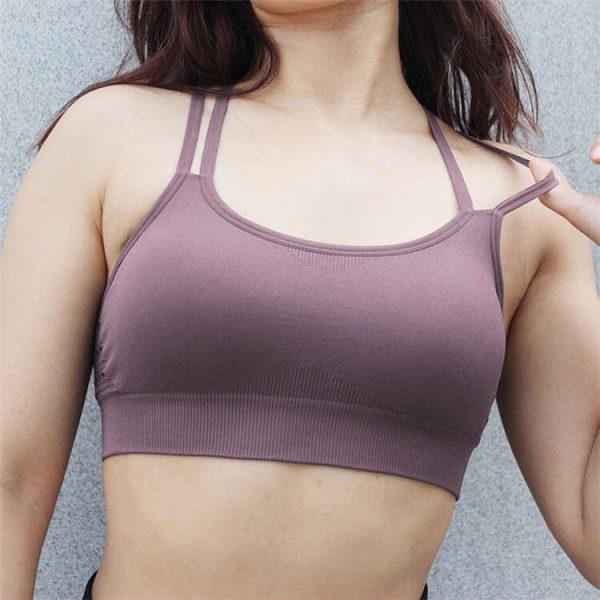 Thin Strap Sports Bra - Thin Strap Sports Bra - Custom Fitness Apparel Manufacturer