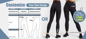 Types of custom fitness apparel - Black Leggings with Mesh Side Panels - Custom Fitness Apparel Manufacturer