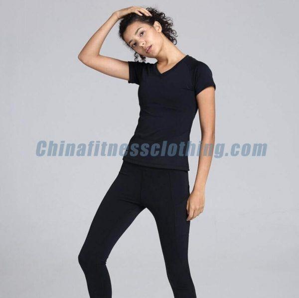 V neck gym t shirts for women wholesale - Women's V Neck T Shirts Wholesale - Custom Fitness Apparel Manufacturer