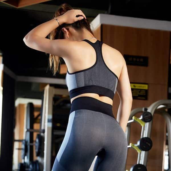 Wholesale black padded push up sports bra - Padded Push Up Sports Bra - Custom Fitness Apparel Manufacturer