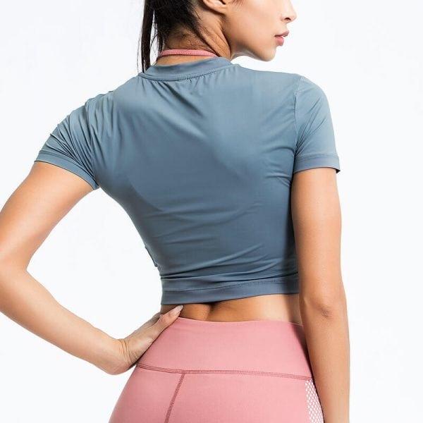 Wholesale round neck crop top manufacturers - Round Neck Crop Top T Shirt - Custom Fitness Apparel Manufacturer