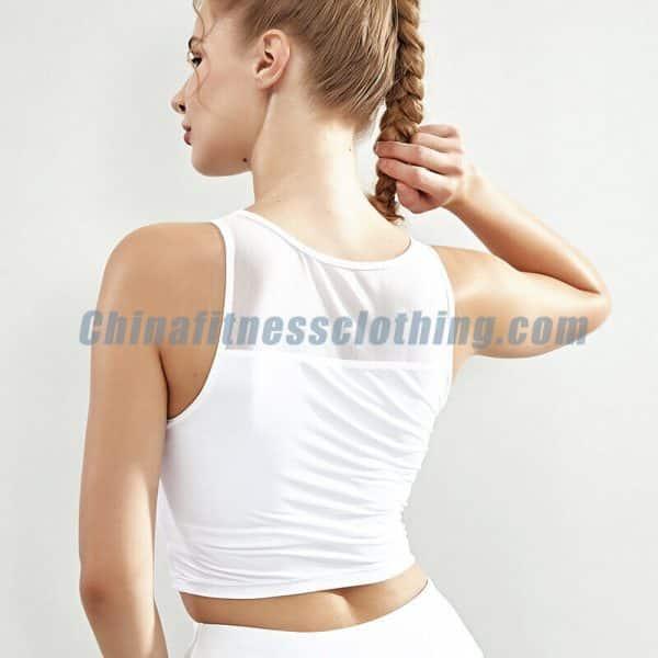 Wholesale white sleeveless crop top manufacturers - Wholesale White Sleeveless Crop Top - Custom Fitness Apparel Manufacturer