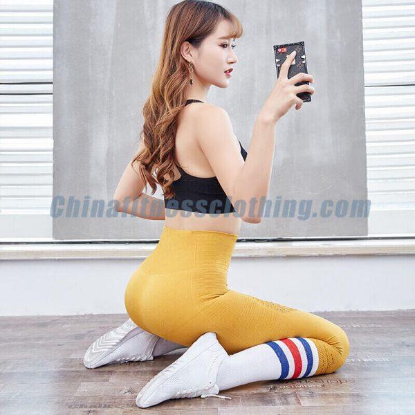 Yellow mesh capri leggings wholesale - Mesh Capri Leggings Wholesale - Custom Fitness Apparel Manufacturer