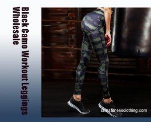 black camo workout leggings wholesale - Black Camo Workout Leggings - Custom Fitness Apparel Manufacturer