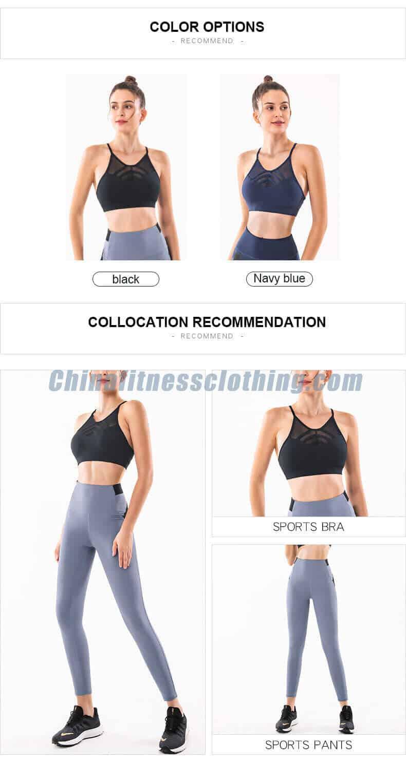 black color thin strap sports bra color options - Black Thin Strap Sports Bra Wholesale - Custom Fitness Apparel Manufacturer