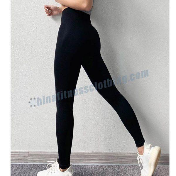 black seamless yoga leggings manufacturer - Seamless yoga leggings manufacturer - Custom Fitness Apparel Manufacturer