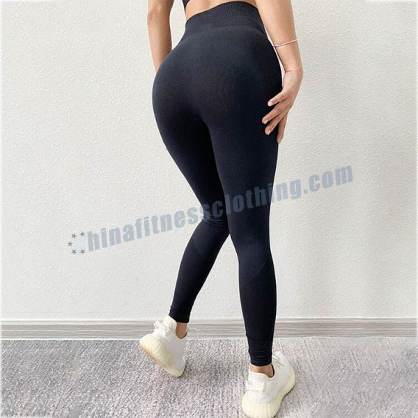 black seamless yoga leggings wholesale - Seamless yoga leggings manufacturer - Custom Fitness Apparel Manufacturer