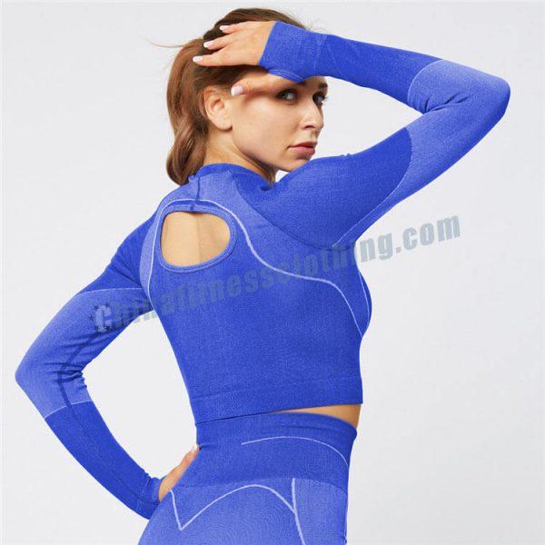 blue long sleeve crop tops wholesale - Long Sleeve Crop Tops Wholesale - Custom Fitness Apparel Manufacturer