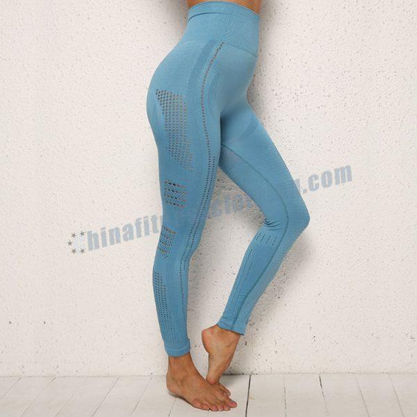 blue-mesh-leggings-manufacturer