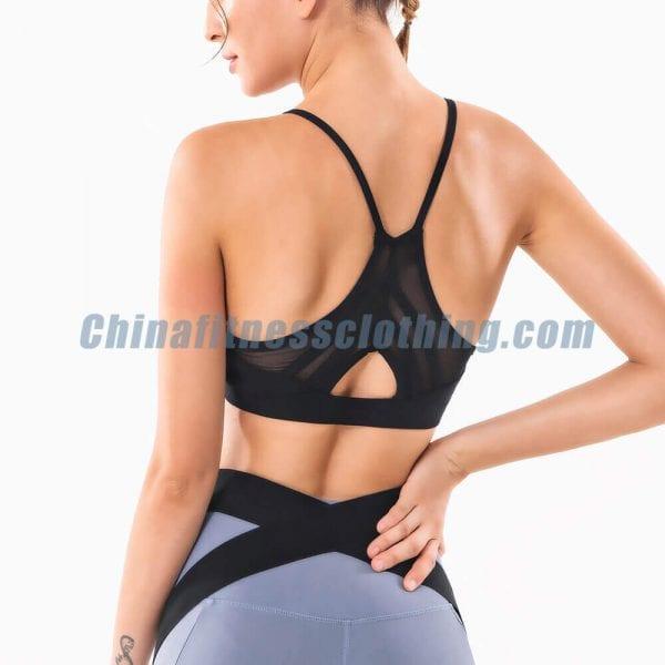 custom black thin strap sports bra wholesale 2 - Black Thin Strap Sports Bra Wholesale - Custom Fitness Apparel Manufacturer
