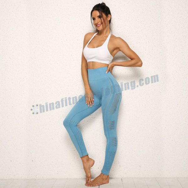 custom blue mesh leggings wholesale - Blue Mesh Leggings Wholesale - Custom Fitness Apparel Manufacturer