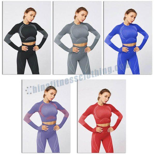 custom long sleeve crop tops wholesale - Long Sleeve Crop Tops Wholesale - Custom Fitness Apparel Manufacturer