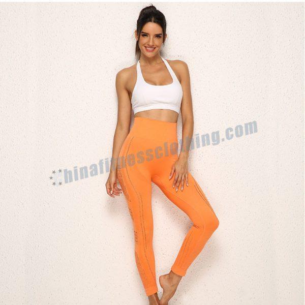 custom orange gym leggings - Orange Gym Leggings Wholesale - Custom Fitness Apparel Manufacturer