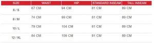 leggings size chart 1 - Slimming Leggings Plus Size Wholesale - Custom Fitness Apparel Manufacturer