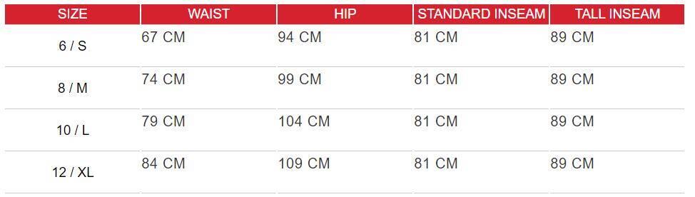 leggings size chart 2 - High Waisted Black Leggings with Pockets - Custom Fitness Apparel Manufacturer