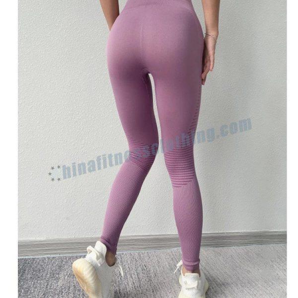 pink seamless yoga leggings - Seamless yoga leggings manufacturer - Custom Fitness Apparel Manufacturer