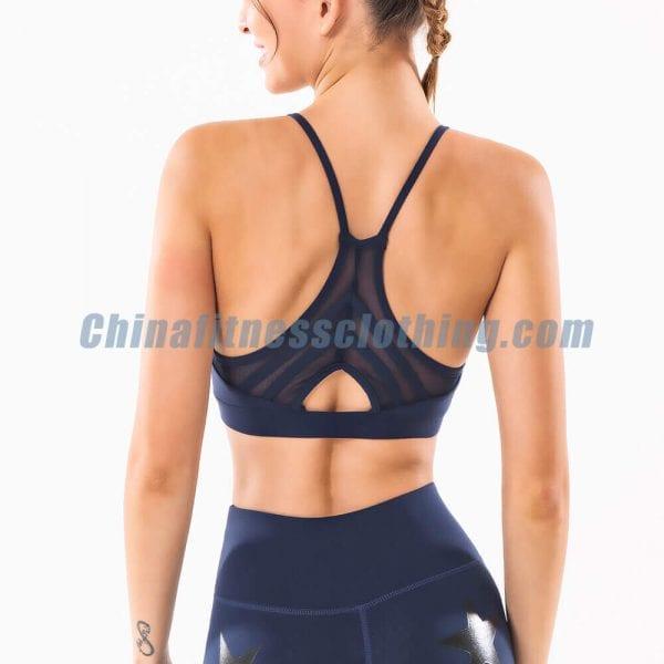 wholesale black thin strap sports bra manufacturer 1 - Black Thin Strap Sports Bra Wholesale - Custom Fitness Apparel Manufacturer
