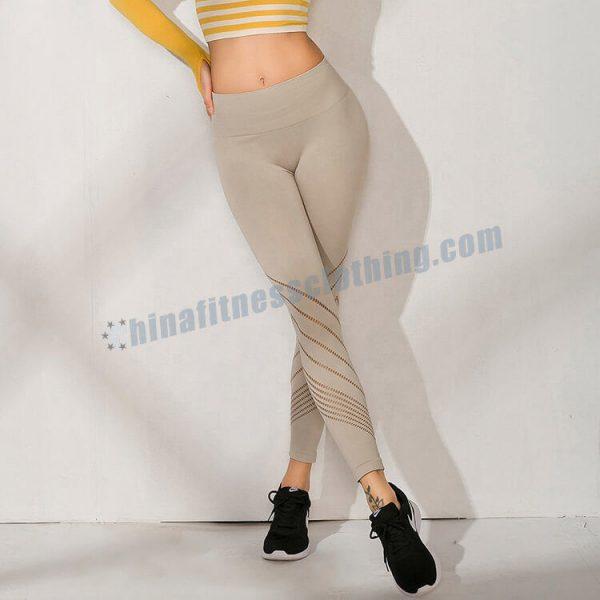 wholesale light grey leggings 1 - Light Grey Leggings Wholesale - Custom Fitness Apparel Manufacturer