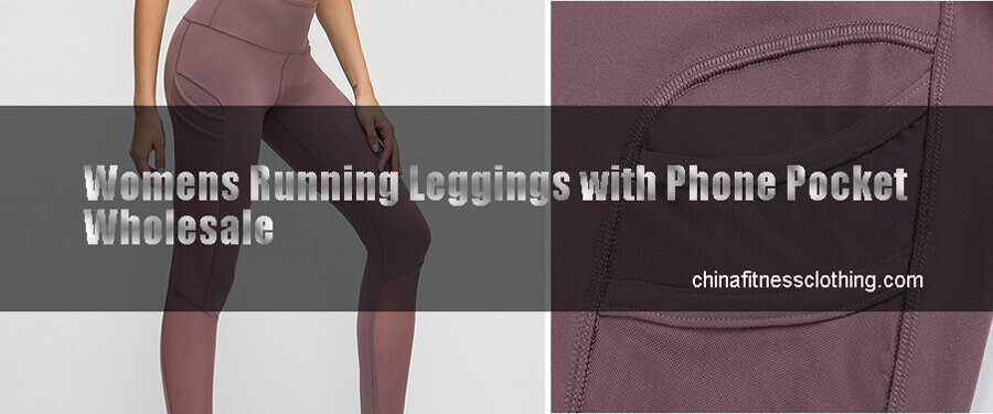 womens running leggings with phone pockets 1 - Womens Running Leggings with Phone Pocket - Custom Fitness Apparel Manufacturer