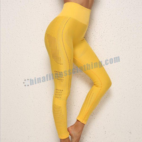 yellow yoga leggings wholesale 1 - Yellow Yoga Leggings Wholesale - Custom Fitness Apparel Manufacturer