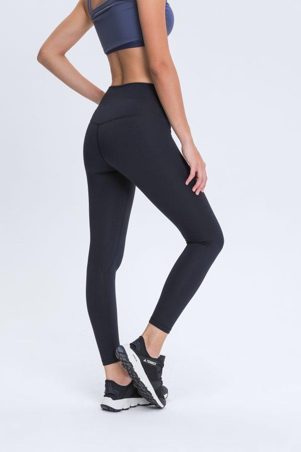 Black Gym Leggings Womens Wholesale 2 scaled - Black Gym Leggings Womens Wholesale - Custom Fitness Apparel Manufacturer