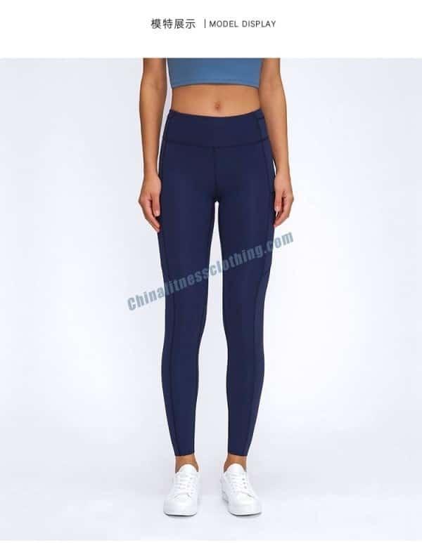 Blue Gym Leggings Wholesale