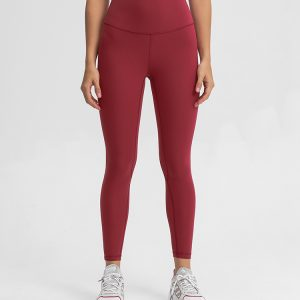 Red Workout Leggings - Womens Fitness Clothing - Custom Fitness Apparel Manufacturer