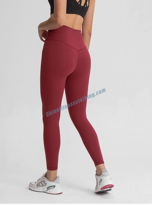 Red Workout Leggings with private logo print available, and 200+ Existing Designs in Stock, As well as ISO certificated, Made in China, Preferential price.